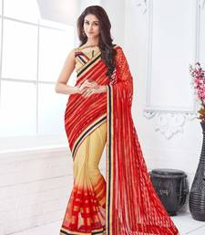 Buy Maroon embroidered net saree with blouse designer-embroidered-saree online