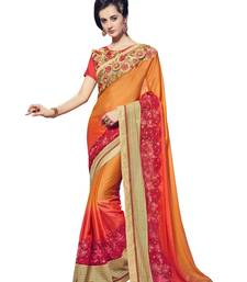 Buy Multicolor embroidered georgette saree with blouse ethnic-saree online