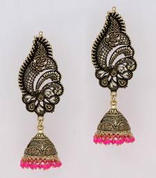 Buy Rani Color Oxidised Gold Plated Ear Cuff Jhumka Earrings ear-cuff online