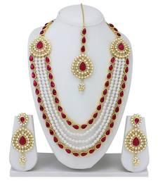 Buy Red diamond necklace-sets necklace-set online