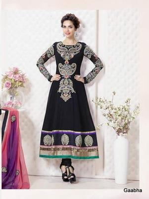 Black Georgette Dress material