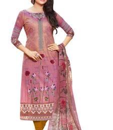 Buy Multicolor printed lawn salwar with dupatta dress-material online