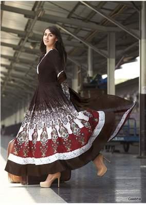 Black White GeorgetteSemi Stitch Dress