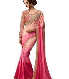 Buy Pink embroidered georgette saree designer-embroidered-saree online