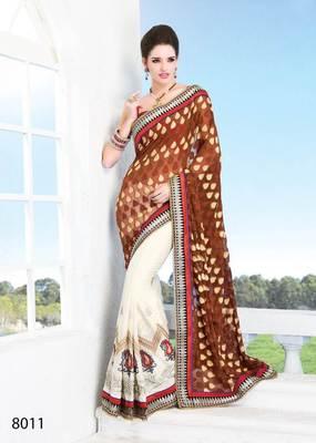 Fancy Heavy Embroidery saree