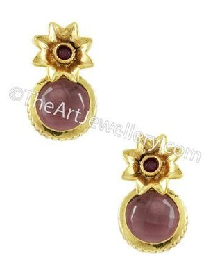 Purple Traditional Rajwadi Drop Earrings Jewellery for Women - Orniza
