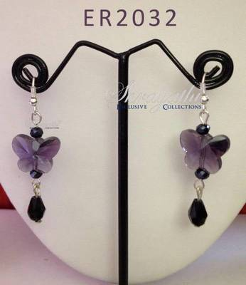Beautiful valentine butterfly earring