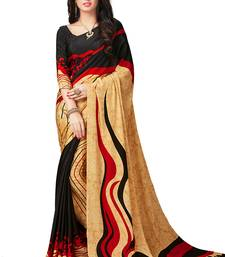 Buy multicolor printed crepe saree with blouse wedding-saree online