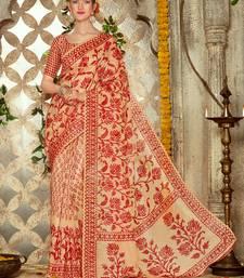 Buy multicolor printed brasso saree with blouse brasso-saree online