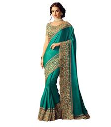 Buy Multicolor embroidered silk saree with blouse below-1500 online