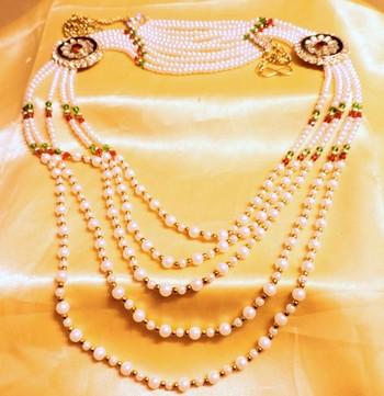 red green pearl elegant waistbelt