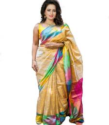 Buy Multicolor Bhagalpuri Printed Saree With Blouse printed-saree online