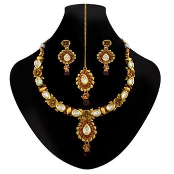 Eye Candy kundan necklace set