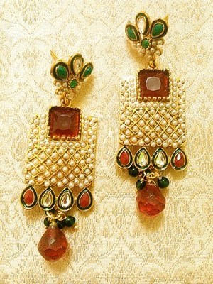 Designer Fabulous Multicolor Copper Alloy Earrings