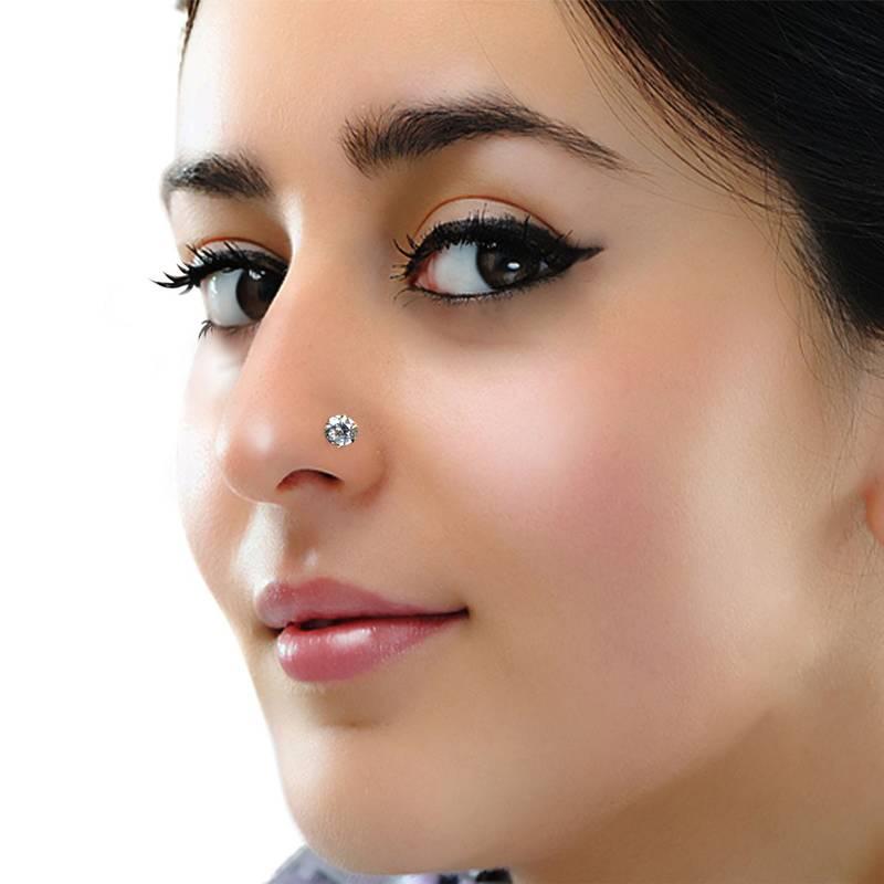 Buy Designer Diamond Nose Ring Online