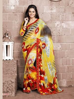 Beautiful Fancy Prints Georgette saree