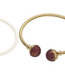 Buy ruby stone kada Bracelet online