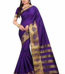 Buy Multicolor plain silk saree with blouse below-1500 online
