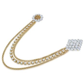Gold diamond brooch