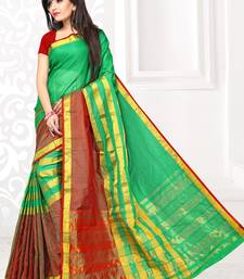 Buy Green printed manipuri silk saree with blouse manipuri-silk-saree online