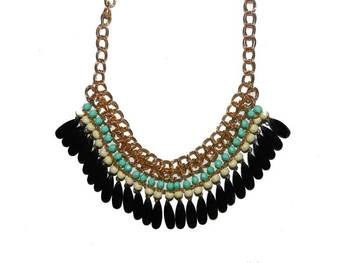 Tassel Drop Statement Necklace
