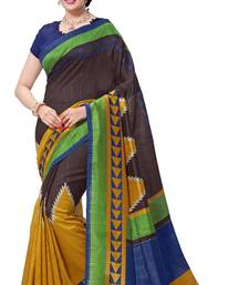 Buy Maroon printed south silk saree with blouse south-indian-saree online