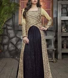 Buy Cream embroidered georgette salwar wedding-salwar-kameez online