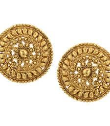 Buy Ladies Studs Golden Copper Stud Earring for Women stud online
