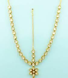 Buy Clear Vilandi Kundan Matha Patti Damini Jewellery For Women hair-accessory online