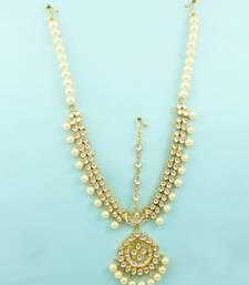 Buy Clear Jadau Kundan Matha Patti Damini Jewellery For Women hair-accessory online