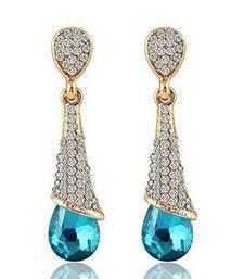 Buy Blue crystal earrings Earring online