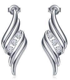 Buy 925 Sterling Silver Stud Earring For Women (White) stud online
