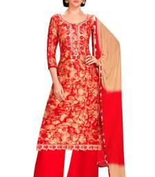 Buy Multicolor printed cotton salwar with dupatta palazzo online