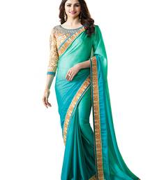 Buy Light green embroidered georgette saree with blouse bollywood-saree online