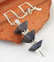 Buy Blue Iolite Pyramid Pendulum gemstone-pendant online