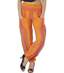 Buy Rajasthani Hand Weaved Girls Orange Harem Pants harem-pant online