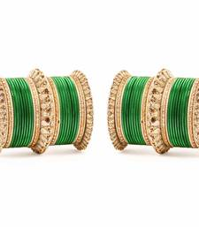 Buy Royal Lac Bangle set by for two hands Green bangles-and-bracelet online