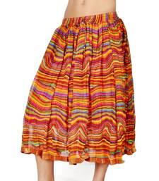 Buy Stylish multicolor Color Ethnic Chiffon Short Skirt skirt online
