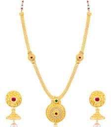 Buy Sukkhi Stunning Gold Plated Necklace Set for women necklace-set online