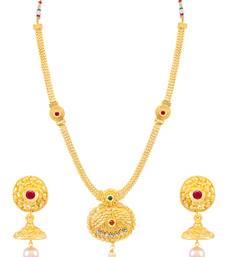Buy Sukkhi Moddish Gold Plated Necklace Set for women necklace-set online