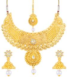 Buy Sukkhi Attractive Gold Plated Necklace Set for women necklace-set online