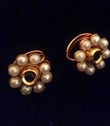 Buy Blue Adjustable pearl flower style work toe ring Ring online