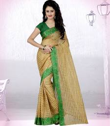 Buy Green brasso art silk saree with blouse brasso-saree online