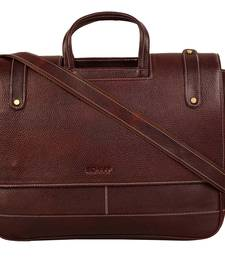 Buy Brown genuine leather formal designer laptop bags laptop-bag online