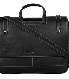 Buy Black genuine leather formal designer laptop bags laptop-bag online