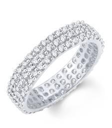 Buy Moddish Rhodium Plated Cubic Zirconia Ring Ring online