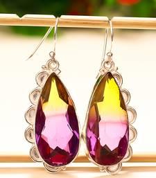 "Buy Ametrine gemstone 925 sterling silver earring 1.95"" gemstone-earring online"
