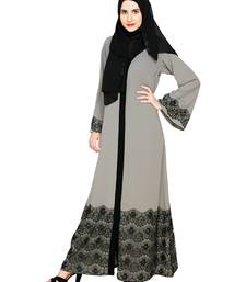 Buy Grey premium nida stitched abaya abaya online