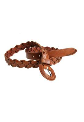 Just Women - Captivating Saddle Brown Womens Leather Belt