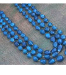 Buy Blue Tumble 3 line necklace Necklace online